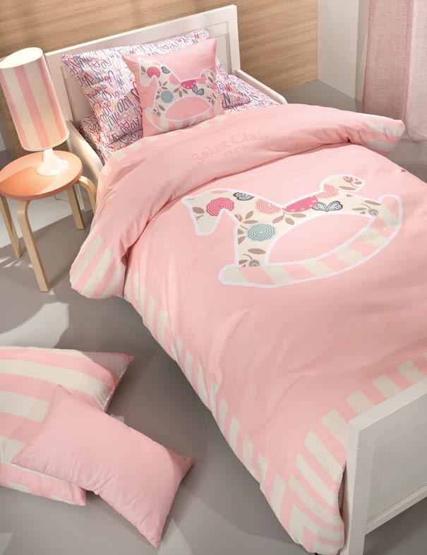 Παπλωματοθήκη Μονή Saint Clair Toy Pink