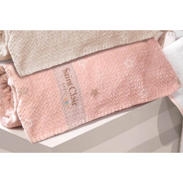 Κουβέρτα Fleece Κούνιας Saint Clair Ultra Soft Starlight Pink