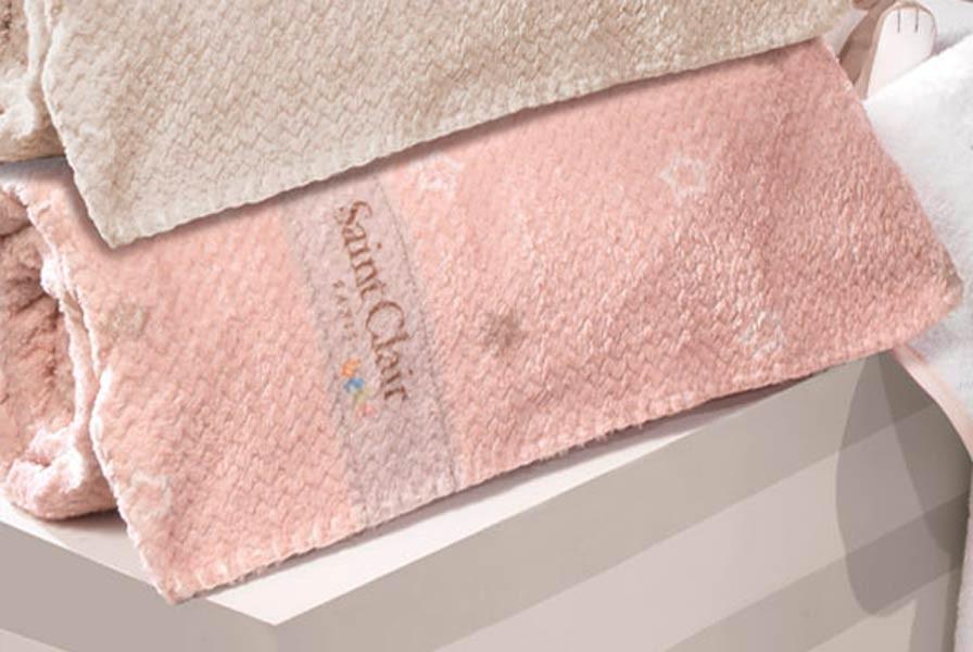 Κουβέρτα Fleece Κούνιας Saint Clair Ultra Soft Starlight Pink