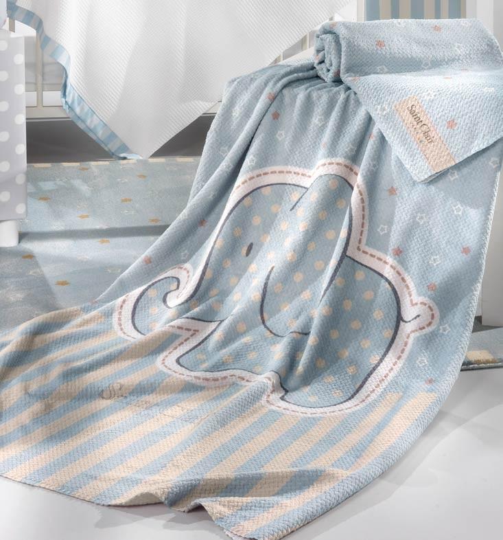 Κουβέρτα Fleece Κούνιας Saint Clair Ultra Soft Africa Blue