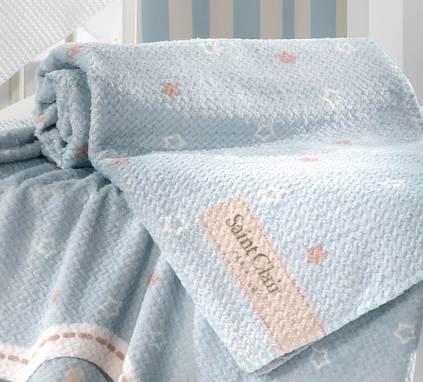 Κουβέρτα Fleece Κούνιας Saint Clair Ultra Soft Starlight Blue
