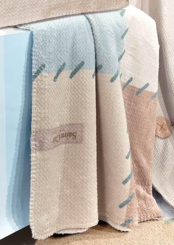 5661cecd864 Κουβέρτα Fleece Κούνιας Saint Clair Ultra Soft Patchwork Blue