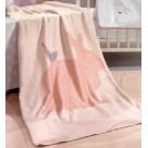 Κουβέρτα Fleece Κούνιας Saint Clair Ultra Soft Lapin Pink