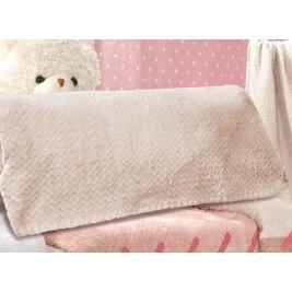 Κουβέρτα Fleece Κούνιας Saint Clair Ultra Soft Natural