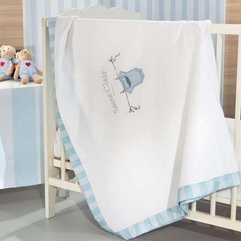 Κουβέρτα Πικέ Κούνιας Saint Clair Jimmy home   βρεφικά   κουβέρτες βρεφικές   κουβέρτες καλοκαιρινές