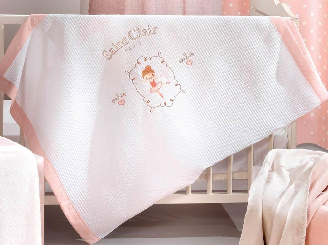Κουβέρτα Πικέ Κούνιας Saint Clair Ballerina home   βρεφικά   κουβέρτες βρεφικές   κουβέρτες καλοκαιρινές