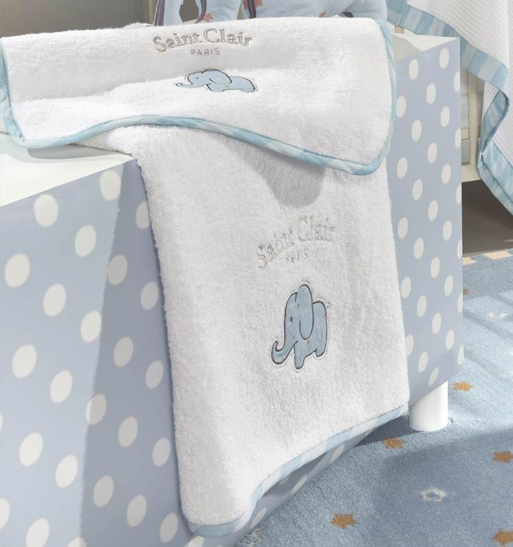 Βρεφικές Πετσέτες (Σετ 2τμχ) Saint Clair Africa Blue