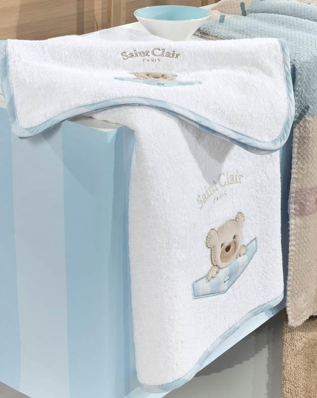 Βρεφικές Πετσέτες (Σετ 2τμχ) Saint Clair Teddy Sky 46912