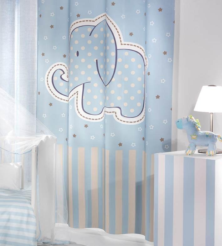 Παιδική Κουρτίνα (160×250) Saint Clair Africa Blue 46930