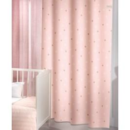 Παιδική Κουρτίνα (160x250) Με Τρουκς Saint Clair Starlight Pink