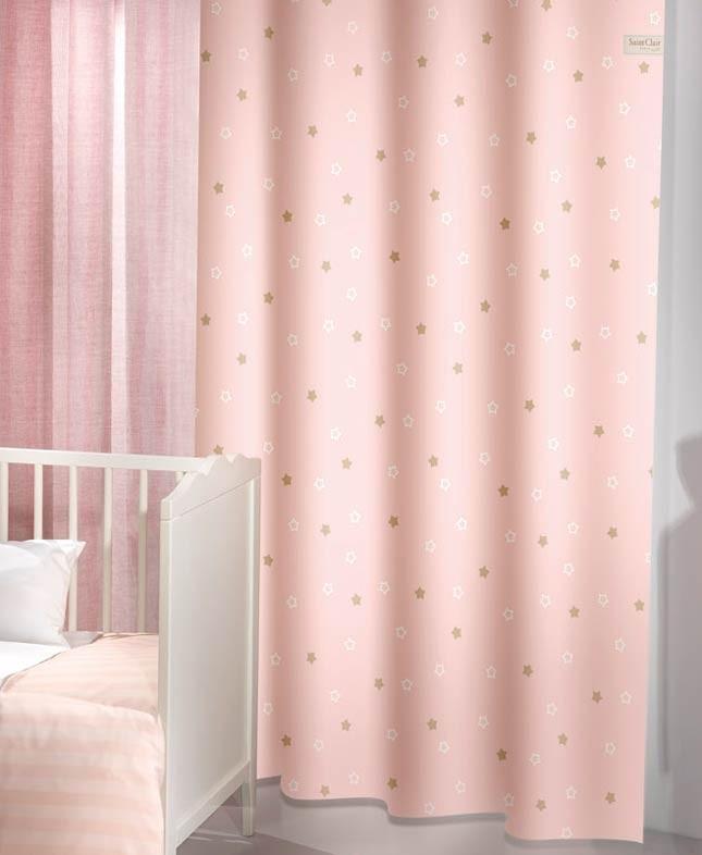 Παιδική Κουρτίνα (160×250) Saint Clair Starlight Pink