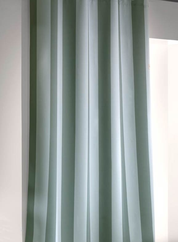Παιδική Κουρτίνα (160×250) Saint Clair Sky-Green Stripes