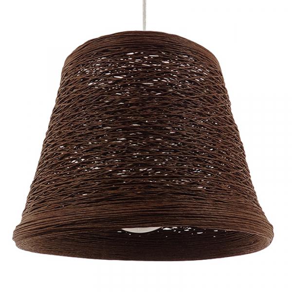 Φωτιστικό Οροφής Μονόφωτο Globostar Playroom 01333 Rattan Καφέ