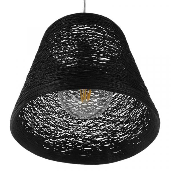 Φωτιστικό Οροφής Μονόφωτο Globostar Playroom 01563 Rattan Μαύρο