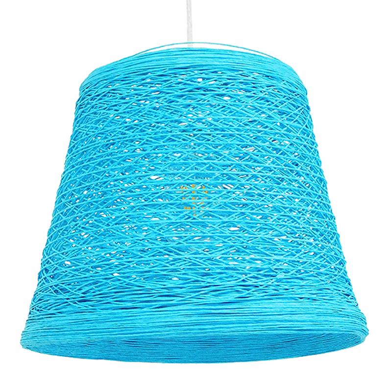Φωτιστικό Οροφής Μονόφωτο Globostar Playroom 00995 Rattan Γαλάζιο