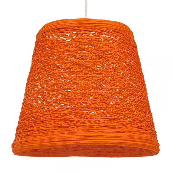 Φωτιστικό Οροφής Μονόφωτο Globostar Playroom 00997 Rattan Πορτοκαλί