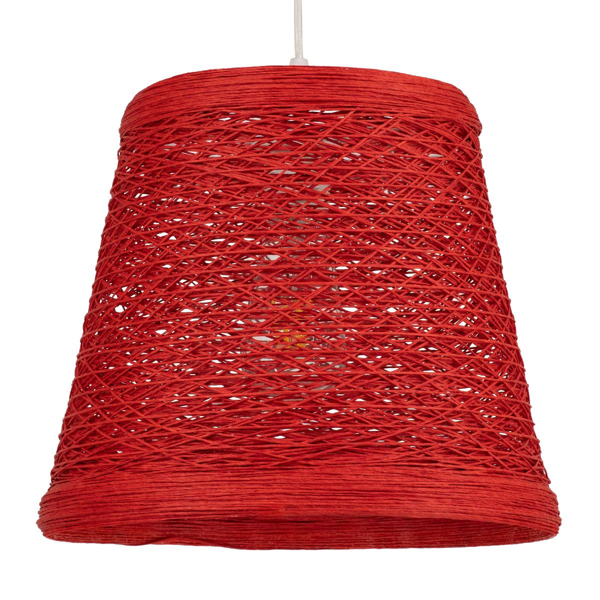 Φωτιστικό Οροφής Μονόφωτο Globostar Playroom 00863 Rattan 00863 Κόκκινο