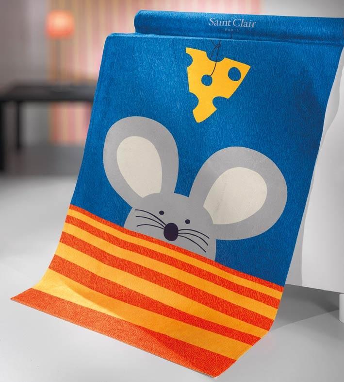 Βελουτέ Πετσέτα Σώματος (75×155) Saint Clair Mouse