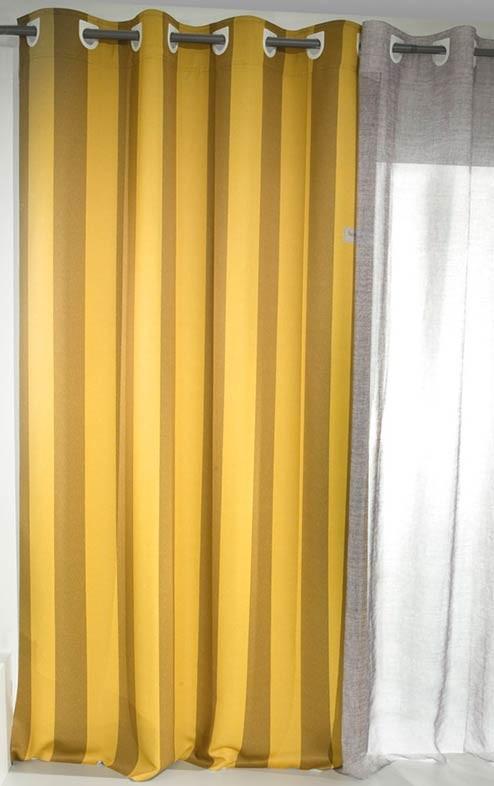 Παιδική Κουρτίνα (160×250) Με Τρουκς Saint Clair Honey Stripes