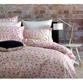 Παπλωματοθήκη Υπέρδιπλη (Σετ) Rythmos Next Hearts Pink