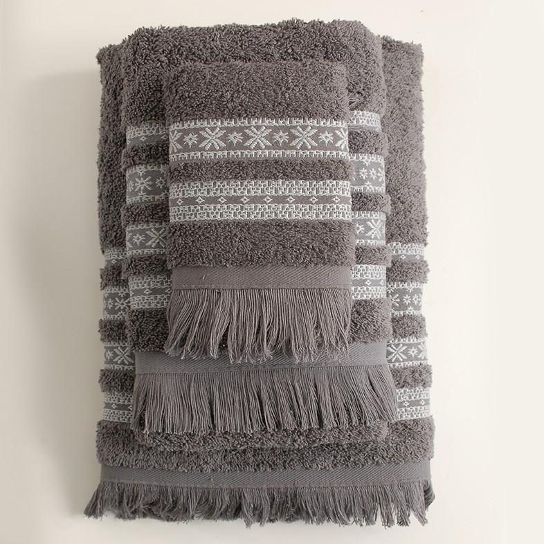 Πετσέτες Μπάνιου (Σετ) Rythmos Mavi Grey