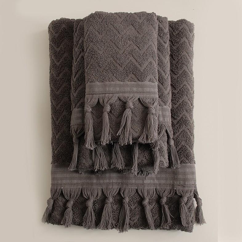 Πετσέτες Μπάνιου (Σετ 3τμχ) Rythmos Canada Grey