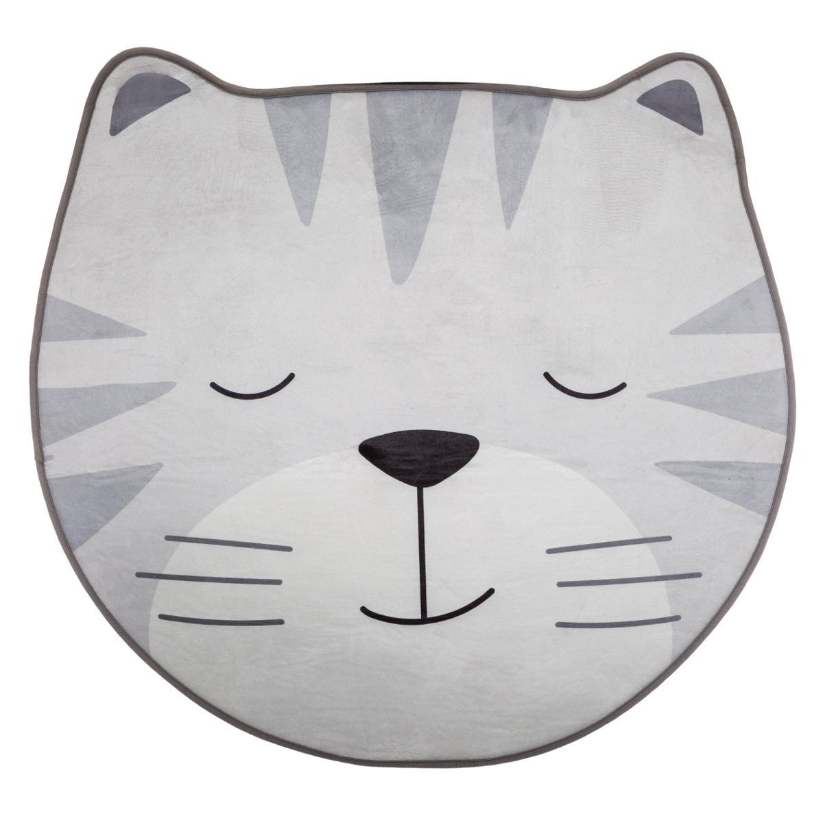 Παιδικό Στρογγυλό Πατάκι (Φ100) A-S Cat Grey 174022B