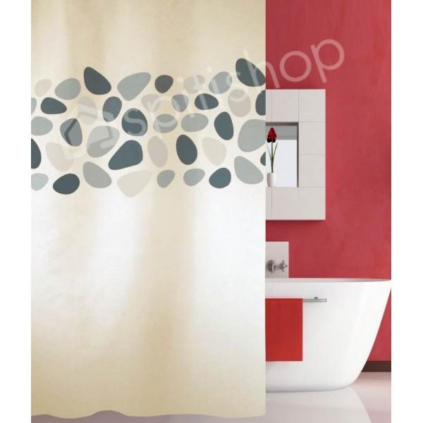 Κουρτίνα Μπάνιου (180x200) San Lorentzo Pebbles Grey