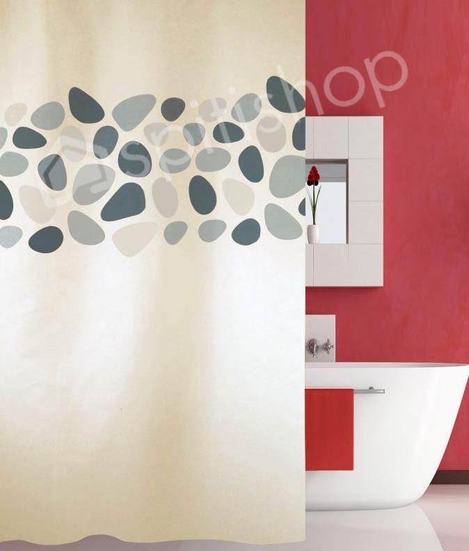 Κουρτίνα Μπάνιου (180×200) San Lorentzo Pebbles Grey