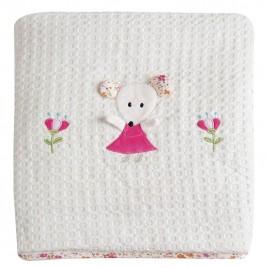 Κουβέρτα Πικέ Αγκαλιάς Das Home Dream Embroidery 6275