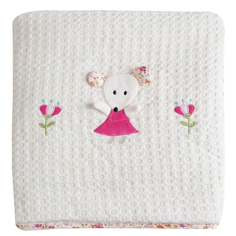 Κουβέρτα Πικέ Κούνιας Das Home Dream Embroidery 6275