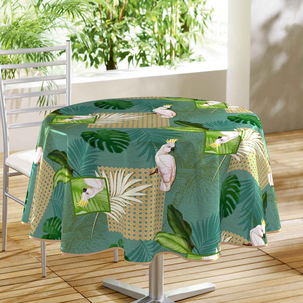 Πλαστικό Τραπεζομάντηλο Ροτόντα (Φ160) L-C Cacatoes Vert 1710699