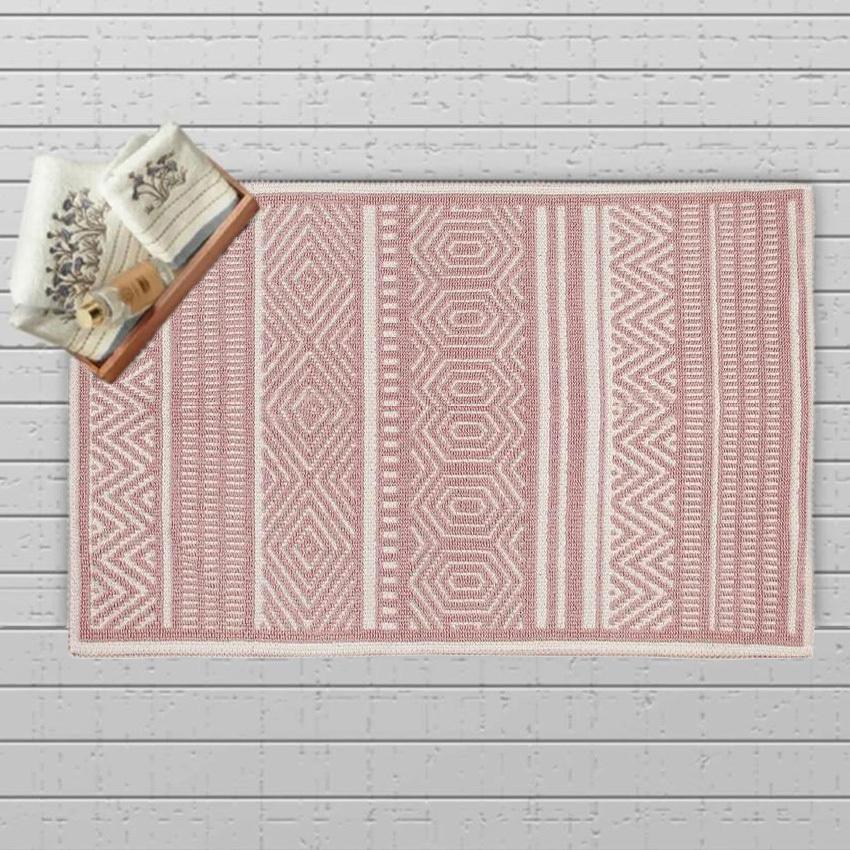Πατάκι Μπάνιου (50×80) Chilai Kilim Ethnic Pink