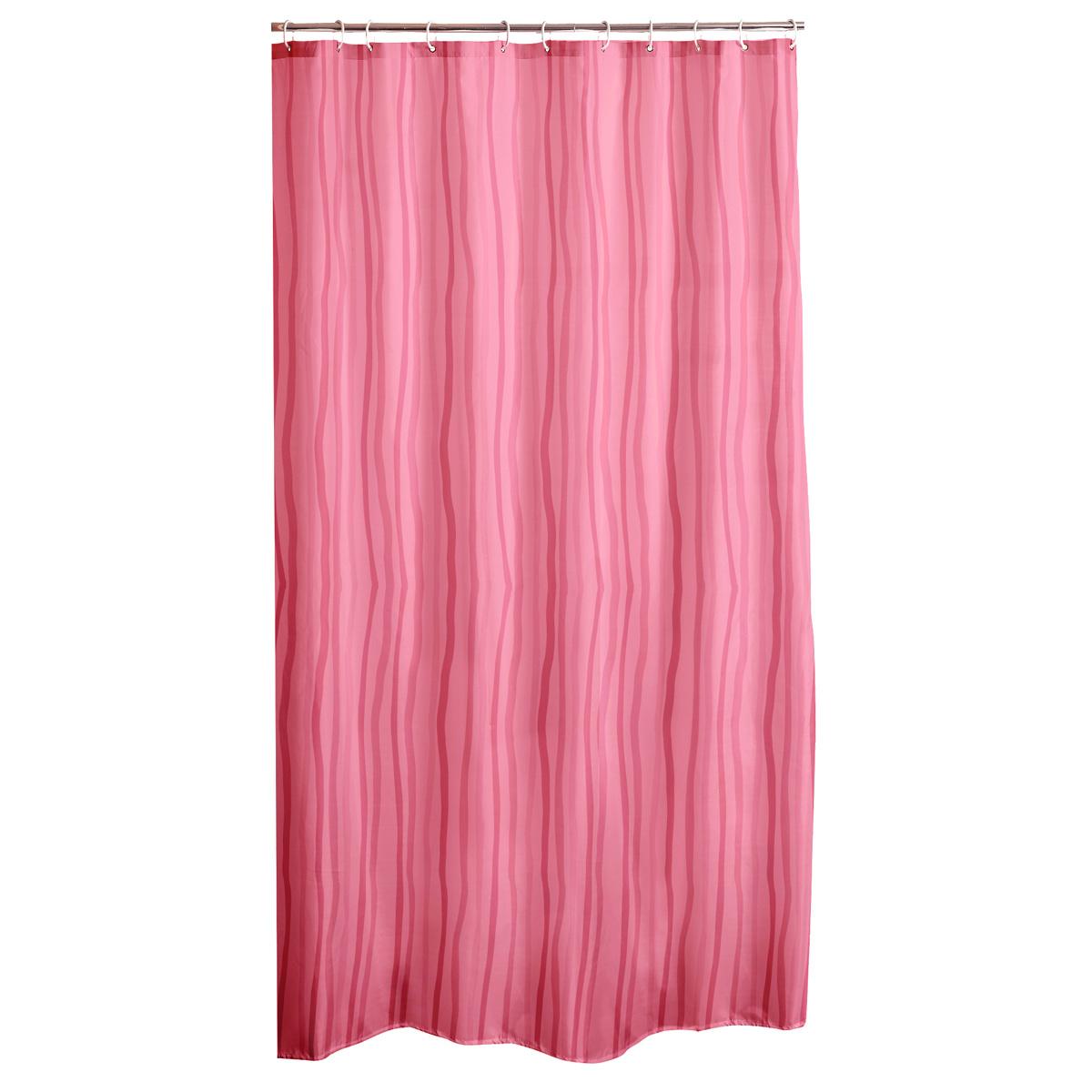 Κουρτίνα Μπάνιου Πλαστική (180×200) L-C Waves Rose 6RD191RS