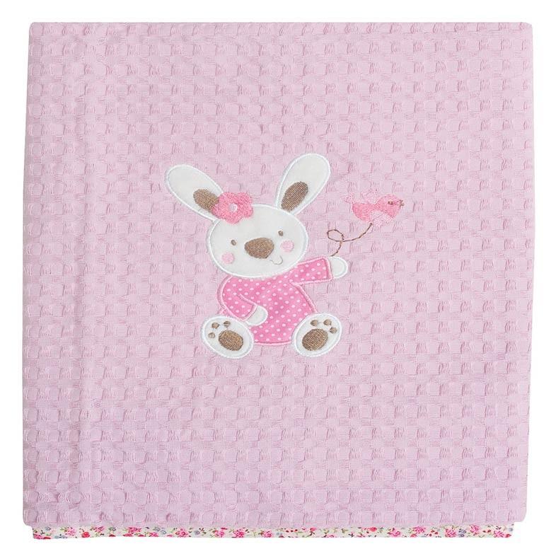 Κουβέρτα Πικέ Κούνιας Das Home Dream Embroidery 6336