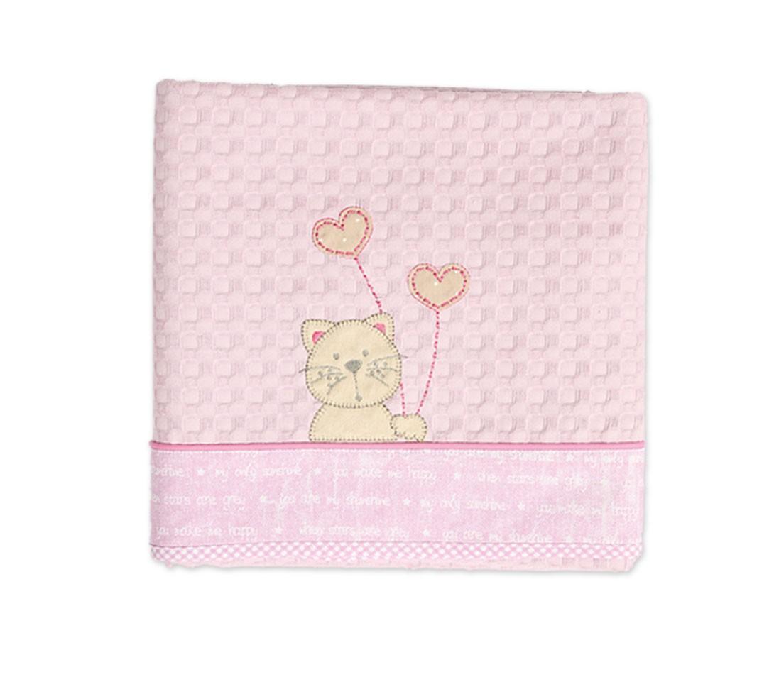 Κουβέρτα Πικέ Κούνιας Nef-Nef Make Me Happy Lilac home   βρεφικά   κουβέρτες βρεφικές   κουβέρτες καλοκαιρινές
