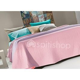 Κουβέρτα Πικέ Υπέρδιπλη Nima Habit Pink Lady
