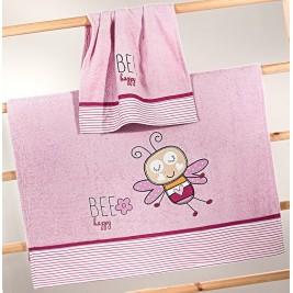 Βρεφικές Πετσέτες (Σετ) Nima Mama-Dada Bee Happy