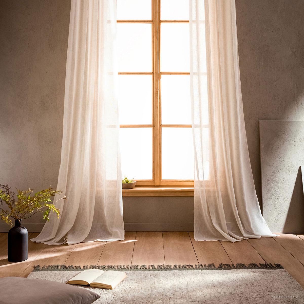 Κουρτίνα (200×275) Με Τρέσα Gofis Home Combe Linen 502/06