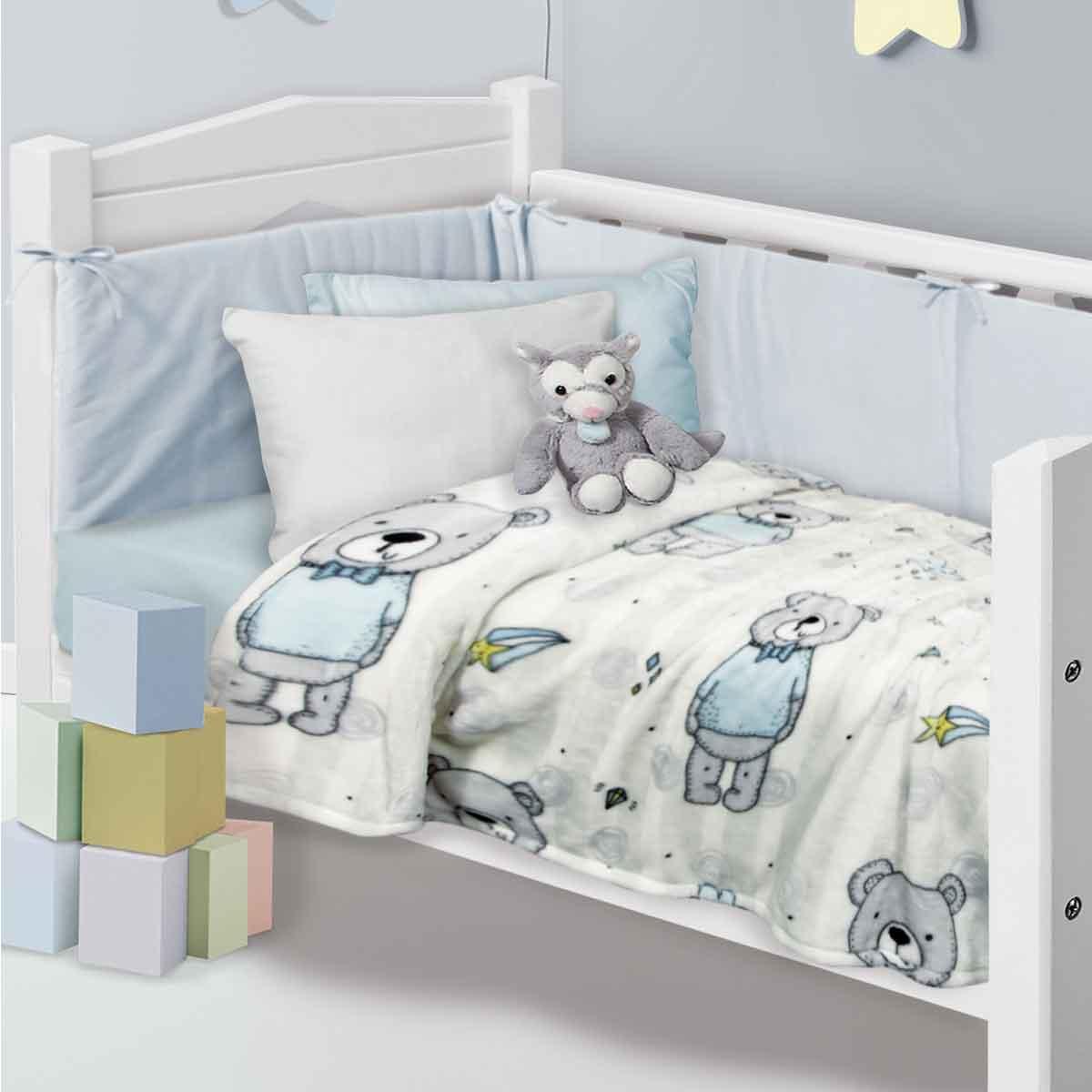 Κουβέρτα Fleece Κούνιας Das Home Blanket Line 4767
