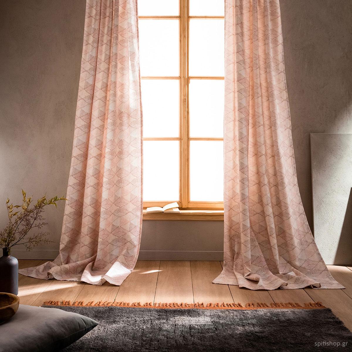 Κουρτίνα (140×260) Με Τρέσα Gofis Home Pyramid 996