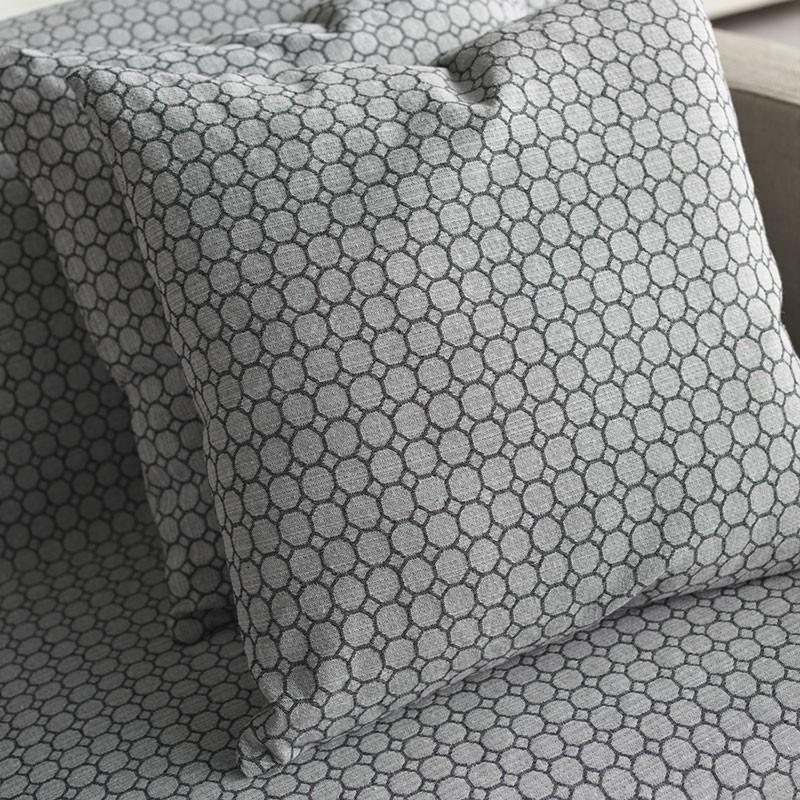 Διακοσμητική Μαξιλαροθήκη Gofis Home 265 Panal Grey