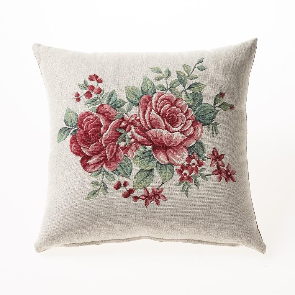 Διακοσμητική Μαξιλαροθήκη Gofis Home 279 Rose Bouquet