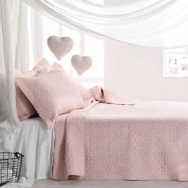 Κουβερλί Διπλής Όψης Μονό (Σετ) Gofis Home 180 Hueso Pink