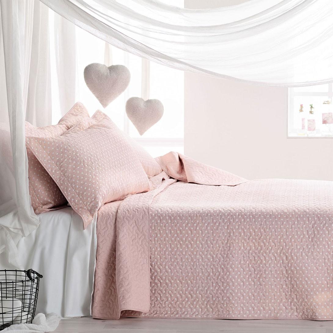 Κουβερλί Μονό (Σετ) Gofis Home Hueso Pink 180/17
