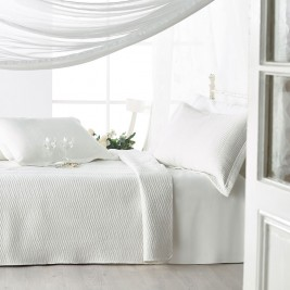 Κουβερλί Υπέρδιπλο (Σετ) Gofis Home Bliss Off White 497