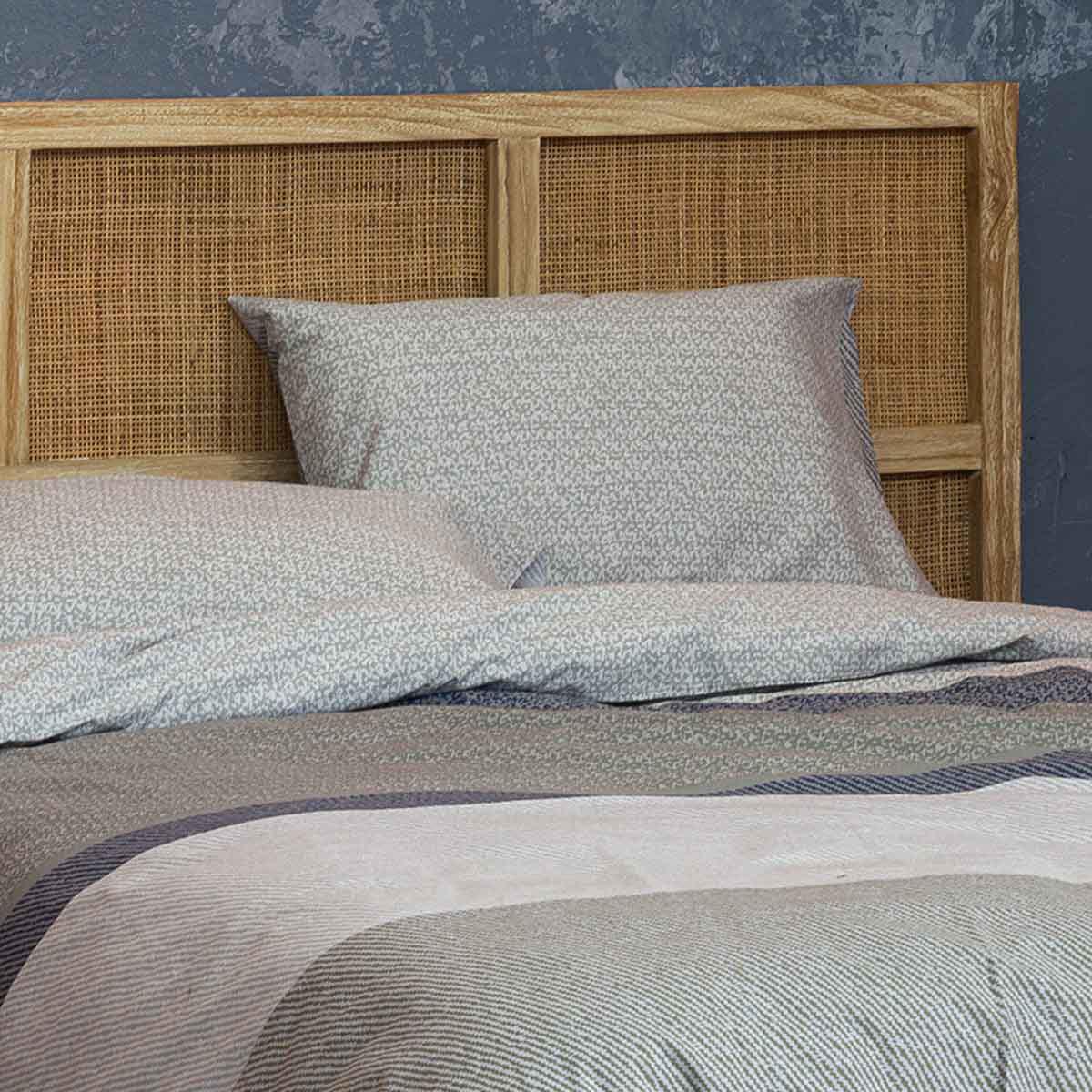 Ζεύγος Μαξιλαροθήκες Nima Bed Linen Frame Grey