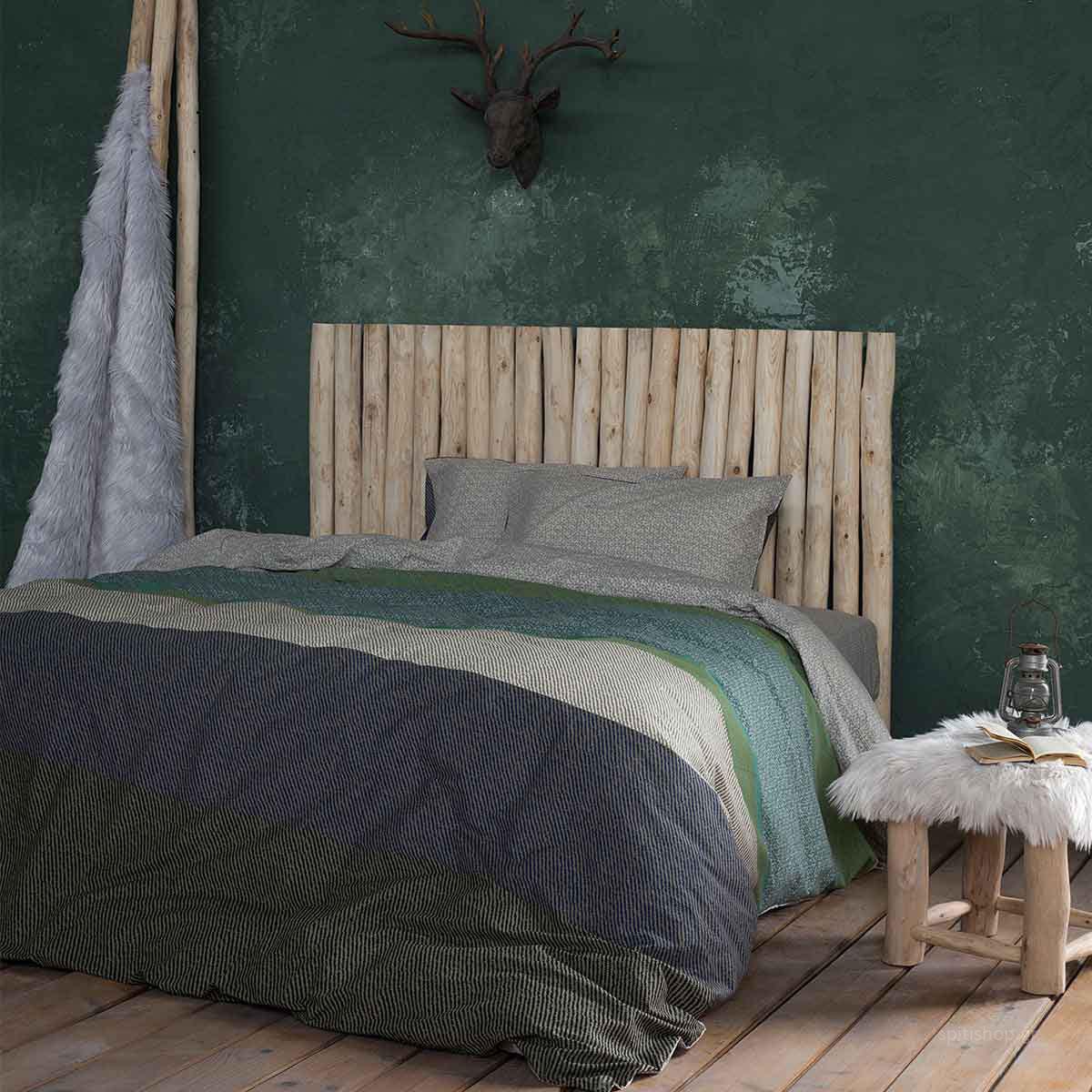 Σεντόνια Υπέρδιπλα (Σετ 240×260) Nima Bed Linen Frame Natural ΜΕ ΛΑΣΤΙΧΟ 160×200+32 ΜΕ ΛΑΣΤΙΧΟ 160×200+32