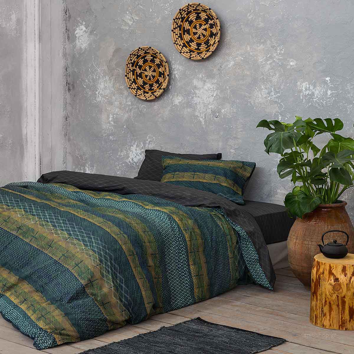 Παπλωματοθήκη Μονή (Σετ) Nima Bed Linen Moeder Natural