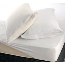Κάλυμμα Στρώματος Μονό (Σετ) Rythmos Frotte Λευκό